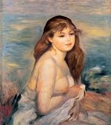 1887 Paintings - The Blonde Bather by Pierre Auguste Renoir