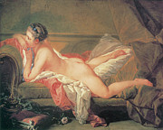 Boucher Framed Prints - The Blonde Odalisque Framed Print by Francois Boucher