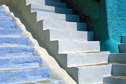 Lindos Posters - The blu stair Poster by Franco Franceschi