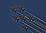 Planes Photos - The Blue Angels by Corky Willis Atlanta Photography