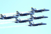 Jet Prints - The Blue Angels Team 2 Print by Wingsdomain Art and Photography