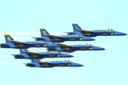 Jet Prints - The Blue Angels Team Print by Wingsdomain Art and Photography
