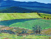 Quebec Pastels - The Blue Appalachians Mountains by Francois Fournier