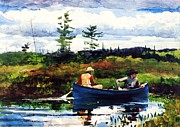 Sportsmen Posters - The Blue Boat Poster by Pg Reproductions