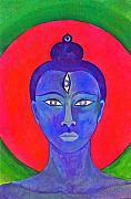 Meditation Paintings - The Blue Buddha by Jennifer Baird