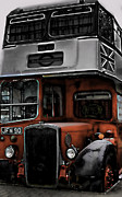 Photographer Prints Prints Art - The Blue Bus  by Jerry Cordeiro