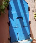 Debbi Granruth Metal Prints - The Blue Door Metal Print by Debbi Granruth