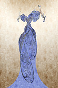 Fabric Mixed Media - The Blue Dress by Andee Photography