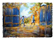 The Blue Gates Of Haiti Print by Bob Salo