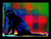 Third Eye Digital Art - The Blue Jaguar by Susanne Still