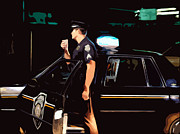 Police Cruiser Art - The blue line by Robert Ponzoni