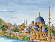 Istanbul Originals - The Blue Mosque in Istanbul Turkey by Bonnie Sue Schwartz