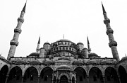 Muslim Artist Prints - The Blue Mosque Print by John Rizzuto