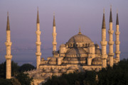 Turkey Metal Prints - The Blue Mosque Metal Print by Michele Burgess