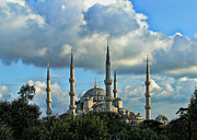 The Blue Mosque Sultanahmet Camii  Print by Alexandra Jordankova
