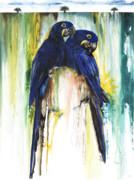 The Blue Parrots Print by Anthony Burks Sr