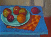 Table Cloth Pastels - The Blue Table #2 by Dolores Holt