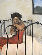 African American Pastels - The Blues by L Cooper