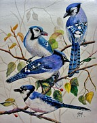 Pencil Artwork Drawings Prints - The Blues Print by Marilyn Smith
