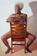 The Blues Woman - Gaye Adegbalola Print by Susan Singer