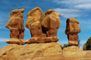 Escalante Grand Staircase Art - The Board Meeting by Sandra Bronstein