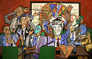 Cubism Painting Posters - The Board Room Poster by Anthony Falbo