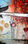 Creepy Mixed Media Originals - The Boardwalk Body by Lee Kelley