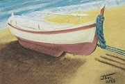 Gulf Pastels Posters - The Boat Poster by Jim Barber Hove