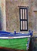 Fishing Boat Paintings - The Boat by Karen Fleschler