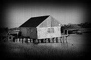 Fishing Shack Prints - The BoatHouse with texture Print by Luke Moore