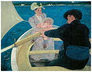 Fine American Art Posters - The Boating Party Poster by Mary Cassatt