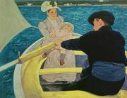 Impressionism Paintings - The Boating Party by Mary Stevenson Cassatt