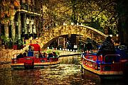 Riverwalk Prints - The Boats Print by Iris Greenwell
