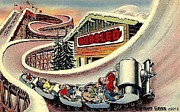 Expos Framed Prints - The Bobsled Ride At The N Y Worlds Fair 1939 Framed Print by Dwight Goss