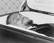 Malcolm X Prints - The Body Of Malcolm X, Slain Negro Print by Everett