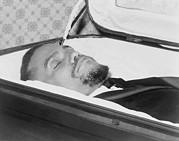 The Body Of Malcolm X, Slain Negro Print by Everett