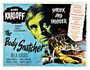 Dragging Framed Prints - The Body Snatcher, Boris Karloff, 1945 Framed Print by Everett