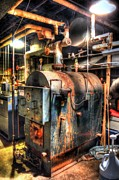 Boiler Photo Prints - The Boiler Room Print by Michael Garyet