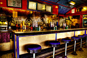 Train Car Framed Prints - The Bolton Bean Trolley Car Diner in Bolton Landing New York Framed Print by David Patterson