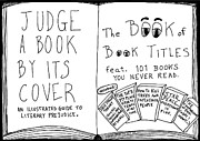 Laughzilla Drawings - The book titles book cover cartoon by Yasha Harari