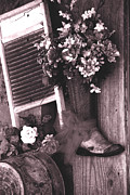 Wash Board Photos - The Boot Store in Calico California by Susanne Van Hulst