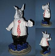 Cartoon Ceramics - The Boss by Bob Dann