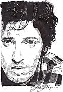 Bruce Springsteen Drawings Acrylic Prints - The Boss Acrylic Print by Jason Kasper