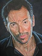 Bruce Springsteen Painting Originals - The Boss by Jason  Swain