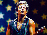 Bruce Springsteen Digital Art Prints - The Boss Print by John Travisano