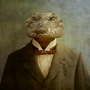 Reptiles Digital Art Metal Prints - The Boss Metal Print by Martine Roch