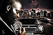 Rick Ross Prints - The Boss Print by The DigArtisT