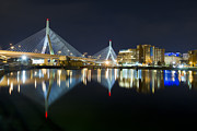 Zakim Framed Prints - The Boston Bridge Framed Print by Shane Psaltis