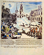 Redcoat Art - The Boston Massacre, March 5, 1770 by Everett