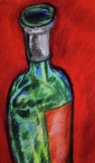 Wine-bottle Pastels - The Bottle is Empty by Emily Michaud